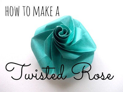 Simple Origami Twisted Rose