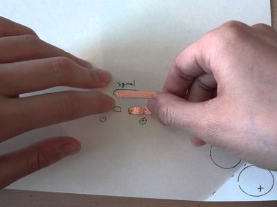 Sound Sensors Sticker: designing and building the circuit