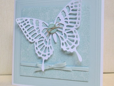 Stampin Up Something Lacy and Butterfly Thinlits