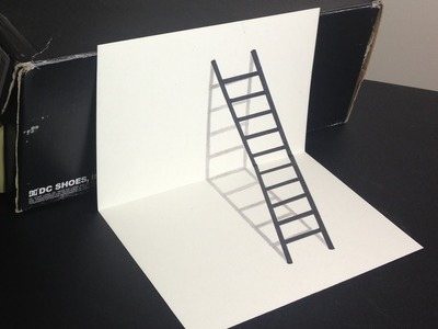 3D Ladder Optical Illusion Drawing