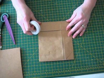 Basic paperbag mini album construction