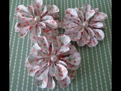 Beautiful 3D  paper flower ~ stampin' up!