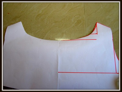 BOAT NECK DRAFTING.PATTERN on CHART  for KURTIS. SALWAR KAMEEZ. BLOUSES