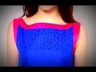 BOAT NECKLINE  for KURTIS. SALWAR KAMEEZ. BLOUSES - CUTTING AND SEWING - DESIGN IT YOURSELF