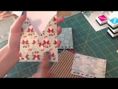Christmas junk journal tutorial:)