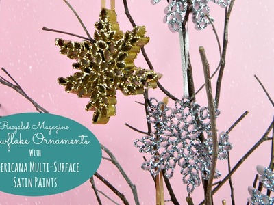 Christmas Magazine Snowflake Ornaments