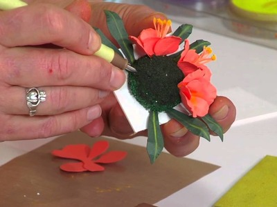 Designing in Susan's Garden with Sizzix Thinlits Clivia Flower Set