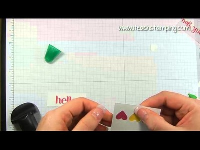 DIY Card Making:  A Simple Hello Card using Rubber Stamps