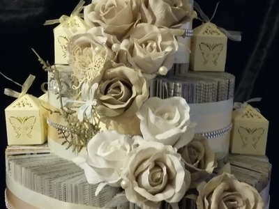 DIY WEDDING DECORATIONS - STUNNING WEDDING CAKE  - BOOK FOLD TUTORIAL