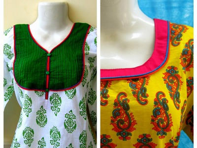 DOUBLE PIPING NECKLINE - EASY SEWING - DIY