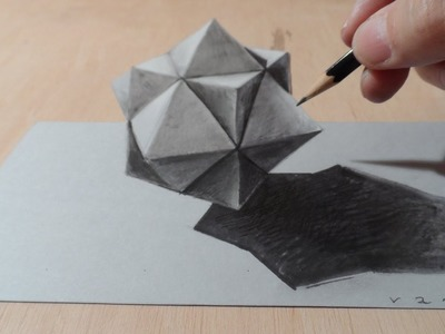 Drawing 3D Cuboctahedron, Optical Illusion
