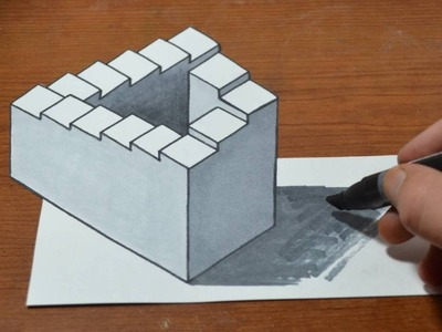 Drawing 3D Penrose Staircase