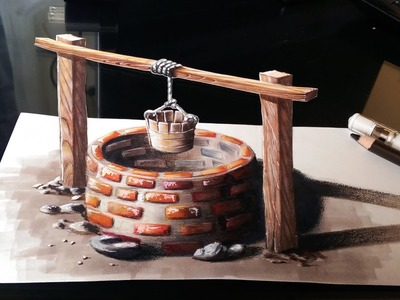 Drawing a 3D Cistern - Optical illusion