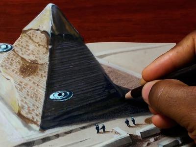 Drawing a 3D Pyramid - Optical Illusion