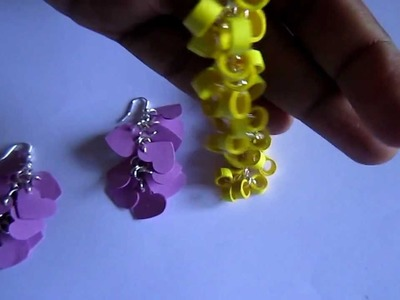 Handmade Jewelry - Paper Quilling Punched Hangings