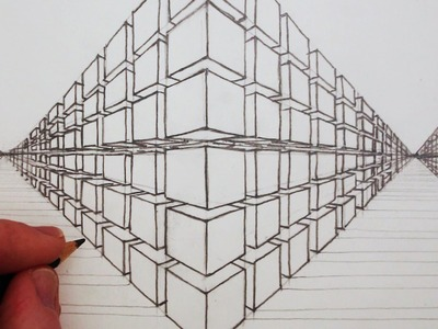 How to Draw a 3D Cube in Two-Point Perspective