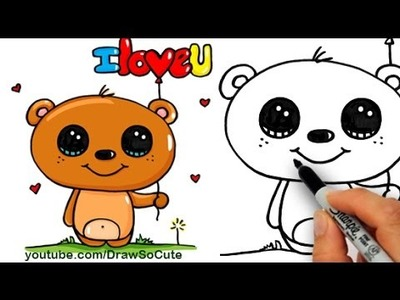 How to Draw a Cute Cartoon Bear Easy step by step