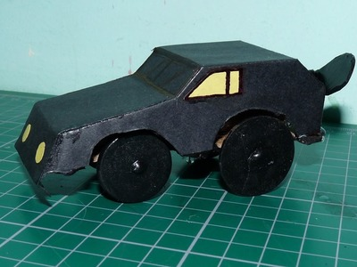 How to make a propeller powered toy car from cardboard and papers at home
