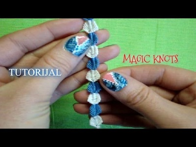 How to make macrame bracelet (leaf) DIY