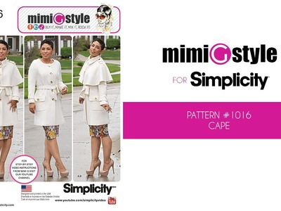 How to Sew Mimi G Style Simplicity Pattern 1016 – Cape (View B)