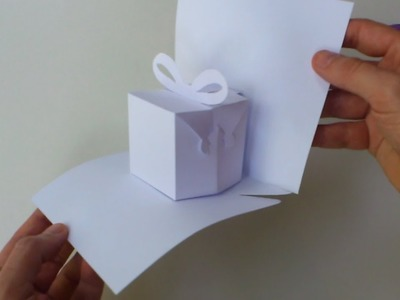 Instructions: Blank manual cutting template for Birthday Present (0021) pop-up card
