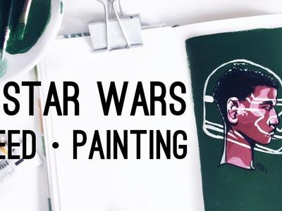 John Boyega in Star Wars · Gouache Speedpainting