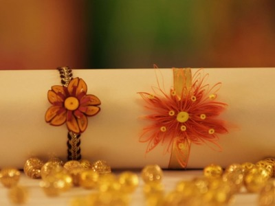Learn How To Make Floral Quilled Rakhi In Style
