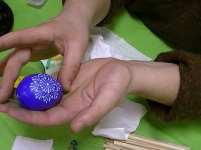 Lithuanian style Pysanka Easter egg technique -- Last steps