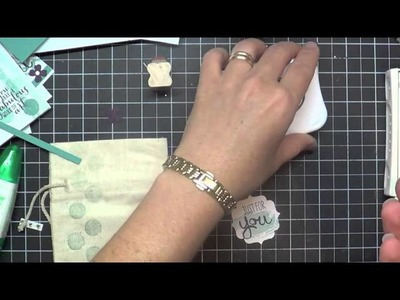 Mini Muslin Bags: How to stamp without the mess