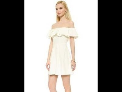 OFF SHOULDER RUFFLED DRESS - EASY CUTTING AND SEWING - WESTERN WEAR