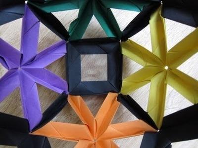 Origami - modular - kusudama - geometrical ball (Tomoko Fuse) - tutorial - dutchpapergirl