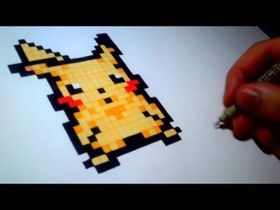 Pixel Art : How to Draw Pikachu