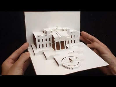 The White House Pop Up Card Tutorial, Origamic Architecture