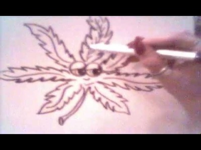 Watch and Learn. Draw a Pot Leaf Cartoon Character