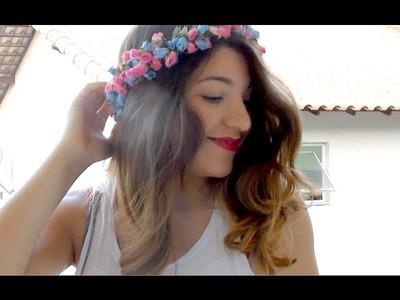 Coroa.Tiara de flores hipster | DIY #3