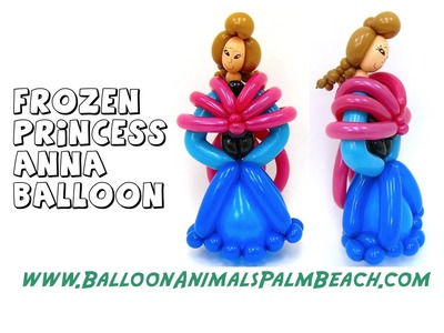 How To Make A Frozen Princess Anna Balloon (Simple) - Balloon Animals Palm Beach