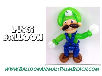 How To Make A Luigi Balloon - Balloon Animals Palm Beach