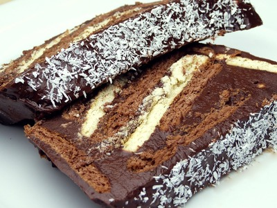 No-Bake Cocoa Biscuit Cake Recipe