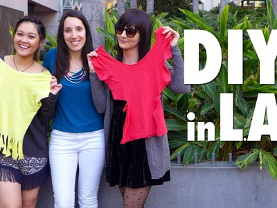 Reto DIY en LA | Cut out t shirt in LA with Danielle Noce & JaaackJack