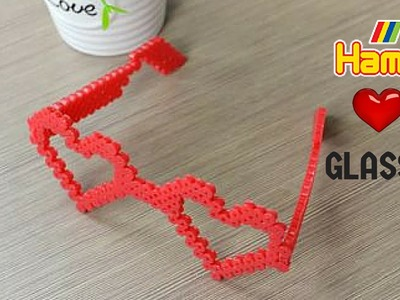 OCCHIALI a CUORE SAN VALENTINO valentine diy hama beads pyssla perler beads heart glasses