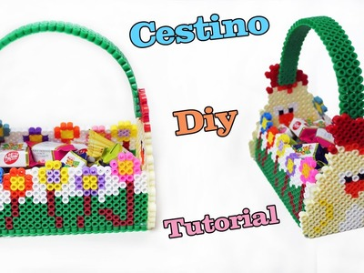 Cestino Pasquale Con Hama Beads. Pyssla | Perler Beads Easter Basket Tutorial