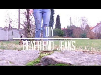 DIY: BOYFRIEND RIPPED JEANS PL