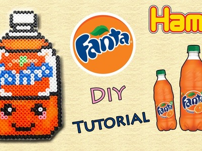 Fanta con Hama Beads. Peler Beads Drink Series Tutorial !