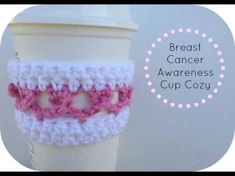 Breast Cancer Awareness Ribbon Cup Cozy