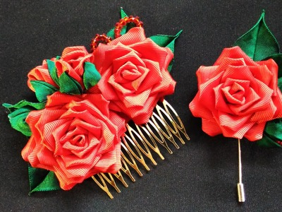D.I.Y. Kanzashi Valentine Rose for Him & Her