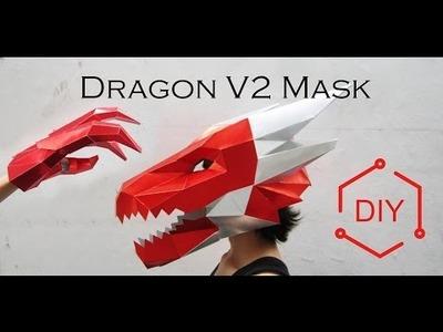 DIY - Dragòn V2 Mask + Paws. Geometric Mask. Wintercroft