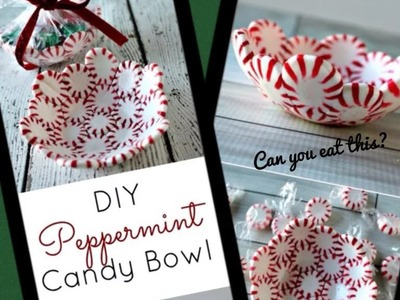 DIY peppermint candy bowl!