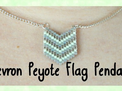 DIY Peyote Chevron Flag Pendant Tutorial. Bead Weaving. ¦ The Corner of Craft