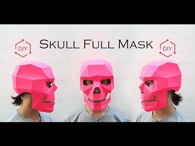 DIY - Skull Face. Geometric Mask.wintercroft