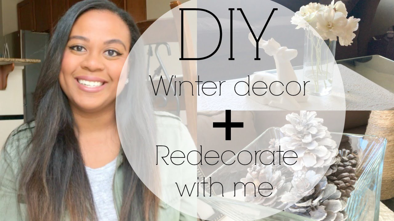 DIY winter decor + Redecorate with me